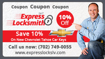coupon for Chevrolet car keys